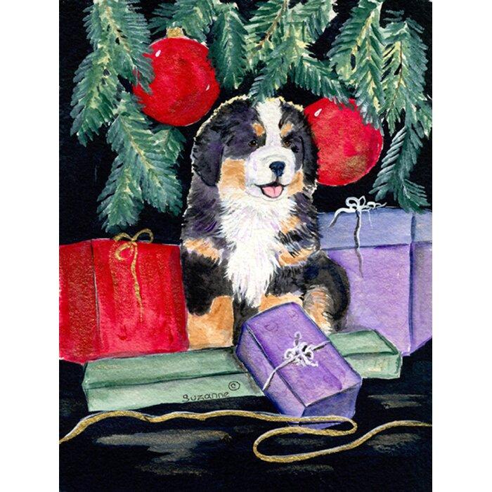 Caroline/'s Treasures Pug Bernese Mountain Dog French Bulldog Flag Small