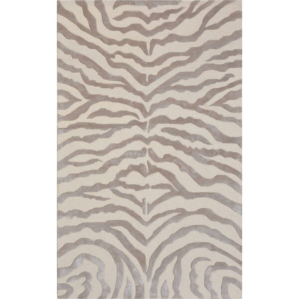 Edgy Hand Tufted Wool Brown/Beige Area Rug by Pasargad