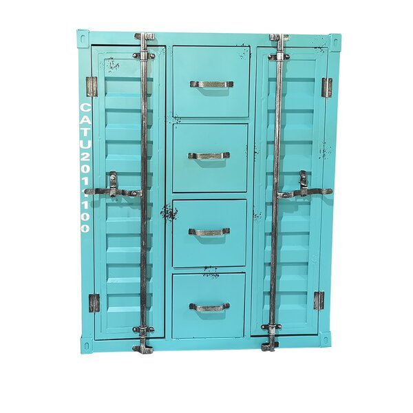 Simona Metal 2 Door Accent Cabinet by Breakwater Bay Breakwater Bay