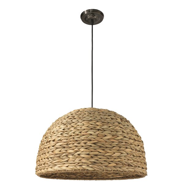 Franklin Bowl 1-Light Pendant by Bay Isle Home