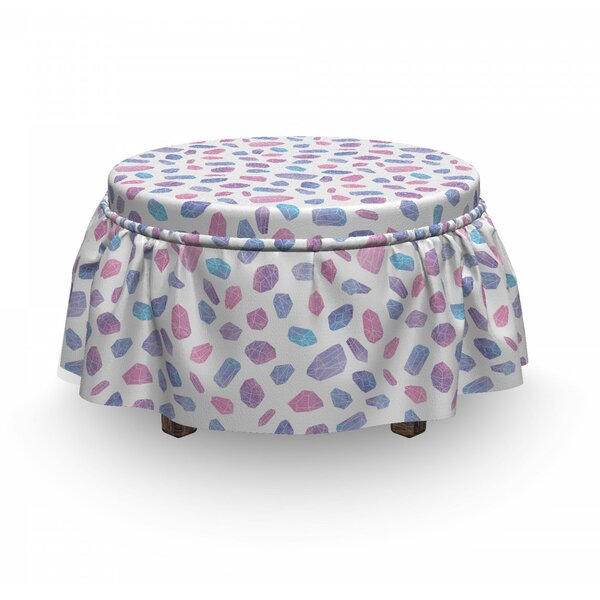 Composition Of Gemstones Ottoman Slipcover (Set Of 2) By East Urban Home