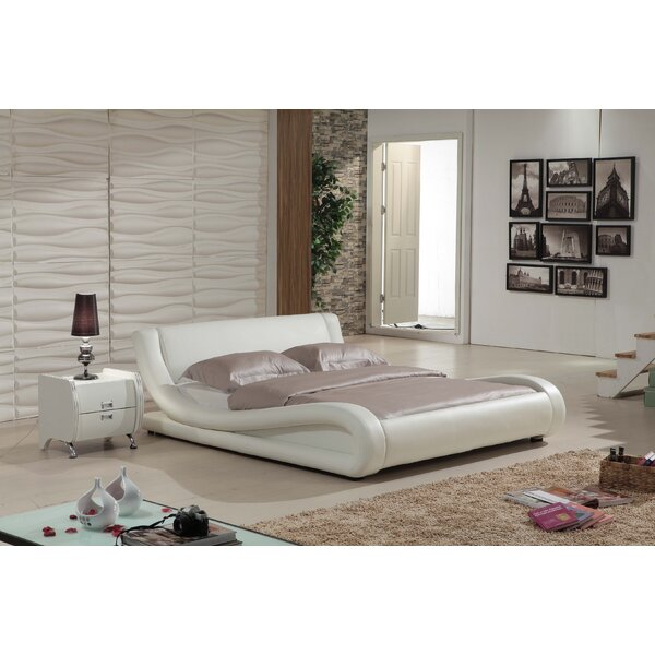 Melrose Upholstered Platform Bed by Wade Logan