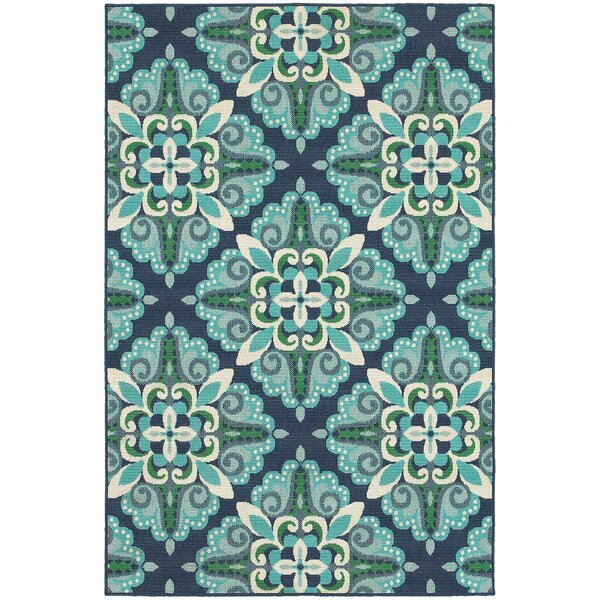 Kailani Contemporary Blue/Green Indoor/Outdoor Are