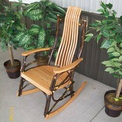 Woodacre Hickory Rocking Chair By Loon Peak