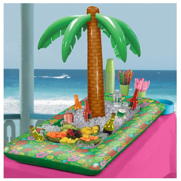 Summer Luau Inflatable Palm Tree Beverage Tub by A
