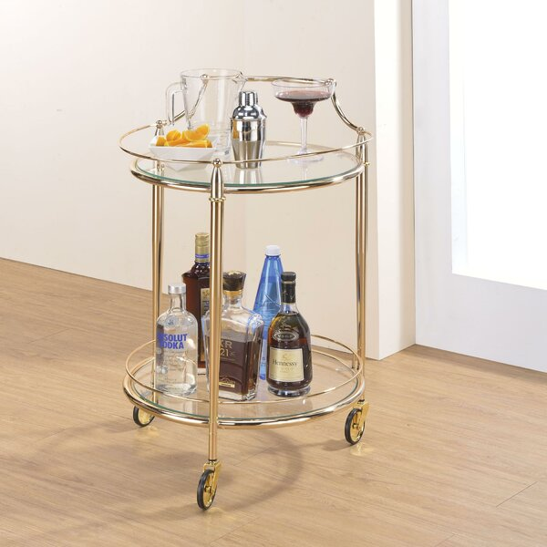 Darrel Metal Framed Bar Cart by Everly Quinn