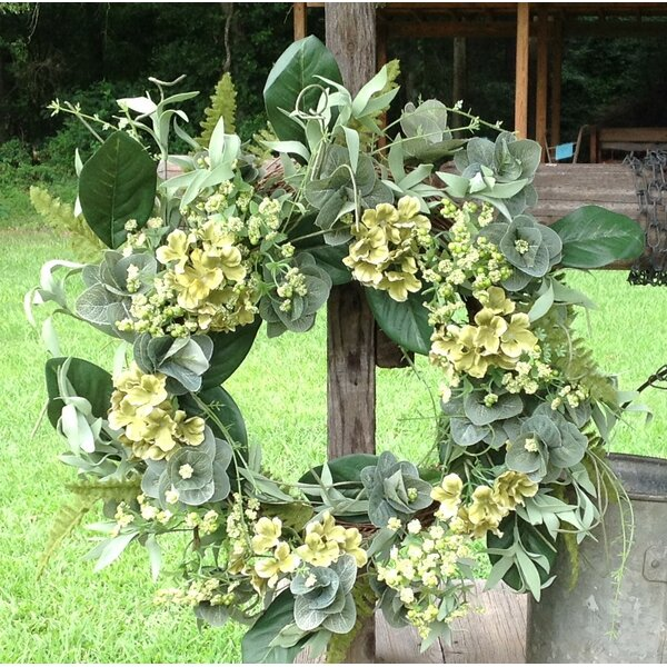 24 Hydrangea Wreath by Gracie Oaks