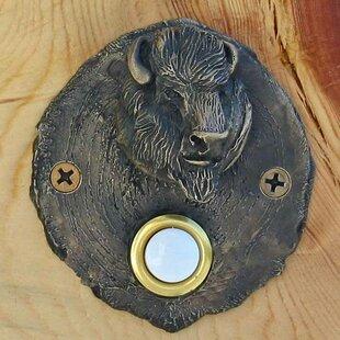 Log End Buffalo Doorbell Button