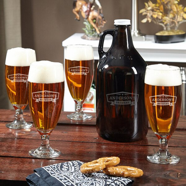 Classic Brewery Personalized 5 Piece Beverage Serving Set by Home Wet Bar