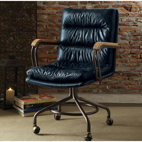 Medway Leather Executive Chair by Union Rustic