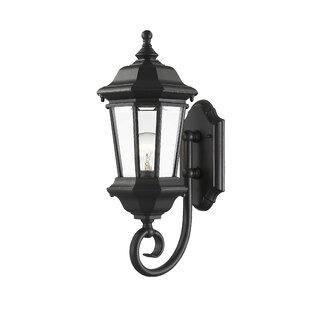 Best Bibb 1-Light Outdoor Wall Lantern By Fleur De Lis Living