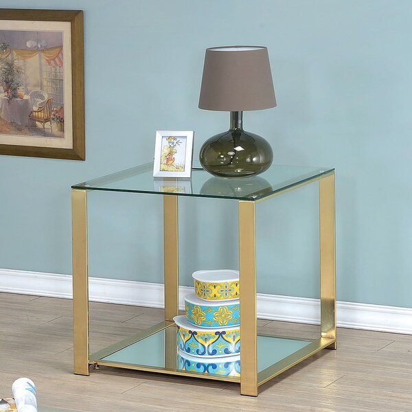 Ruchelly Metal Frame End Table by Willa Arlo Interiors