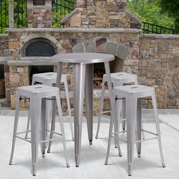 Colbert 5 Piece Bar Height Dining Set by Latitude Run