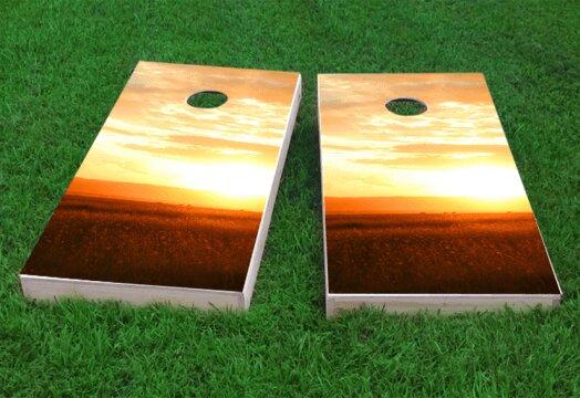 Sunset Cornhole Game (Set of 2) by Custom Cornhole Boards