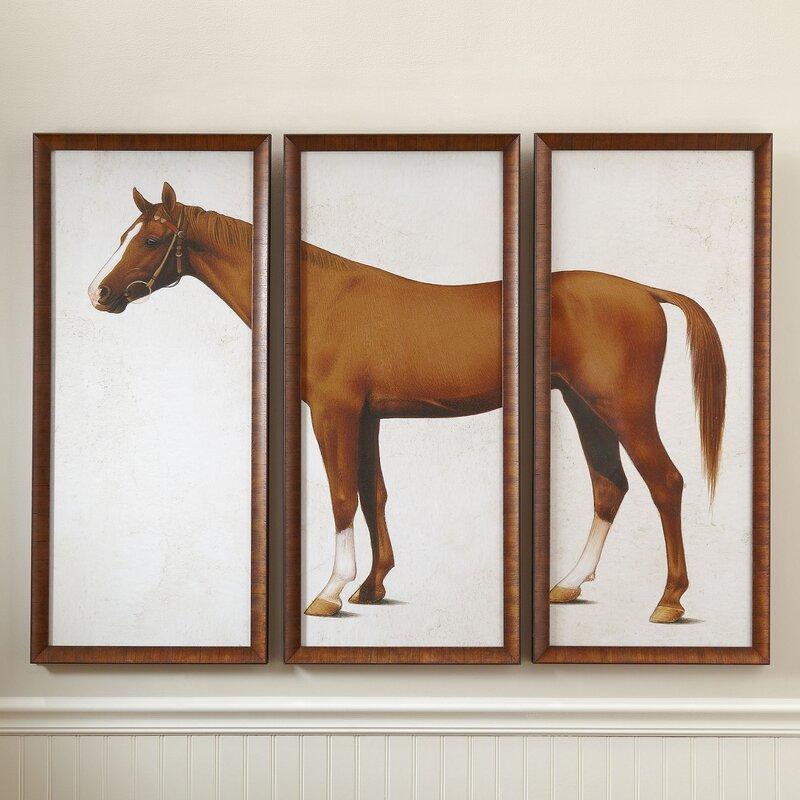 Birch Lane™ Horse Triptych Framed Print & Reviews | Birch Lane
