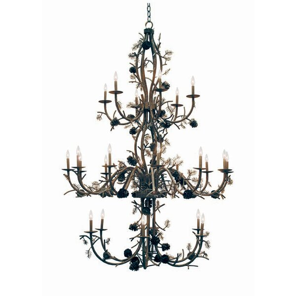 Pinecone 24-Light Chandelier by 2nd Ave Design