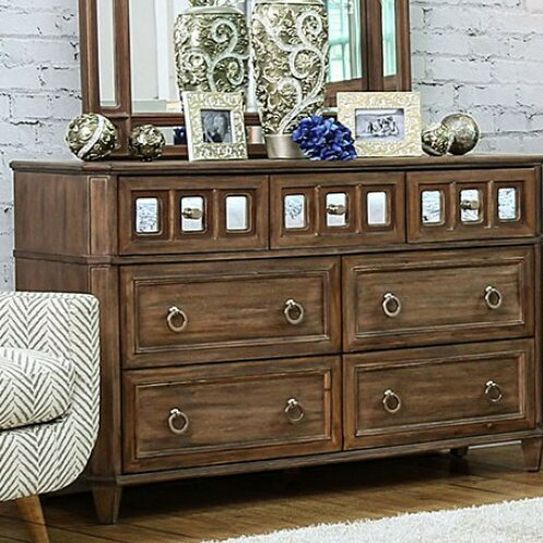 Izola 4 Drawer Dresser with Mirror by Darby Home Co