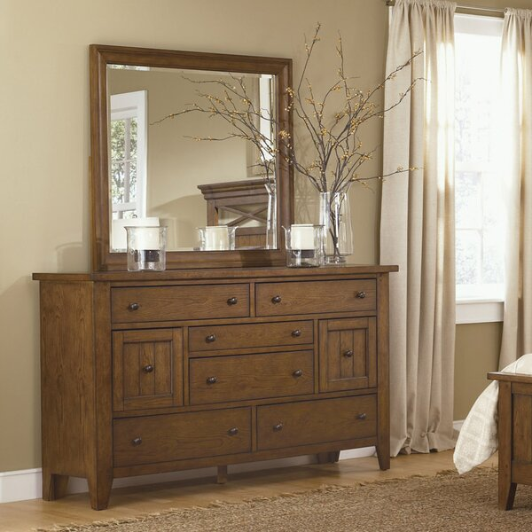 Warkentin 8 Drawer Combo Dresser with Mirror by Charlton Home