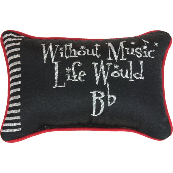 Take Note Word Lumbar Pillow by Manual Woodworkers & Weavers