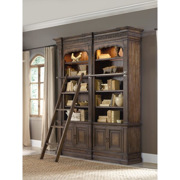 Rhapsody Double Bookcase with Ladder by Hooker Furniture