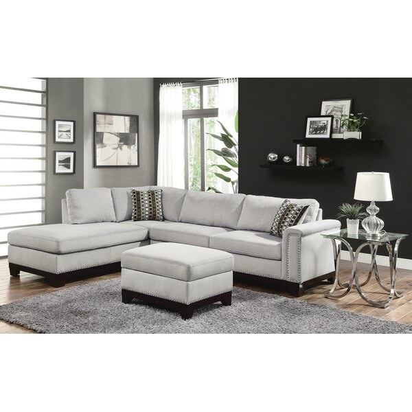 Clairsville Sectional with Ottoman by Rosdorf Park