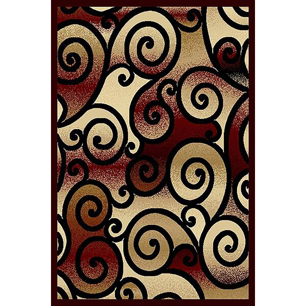 Cosper Burgundy/Beige Area Rug by Ebern Designs