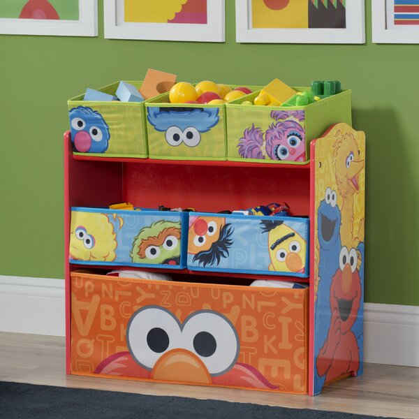 Sesame Street Multi Bin Organizer By Delta Children.