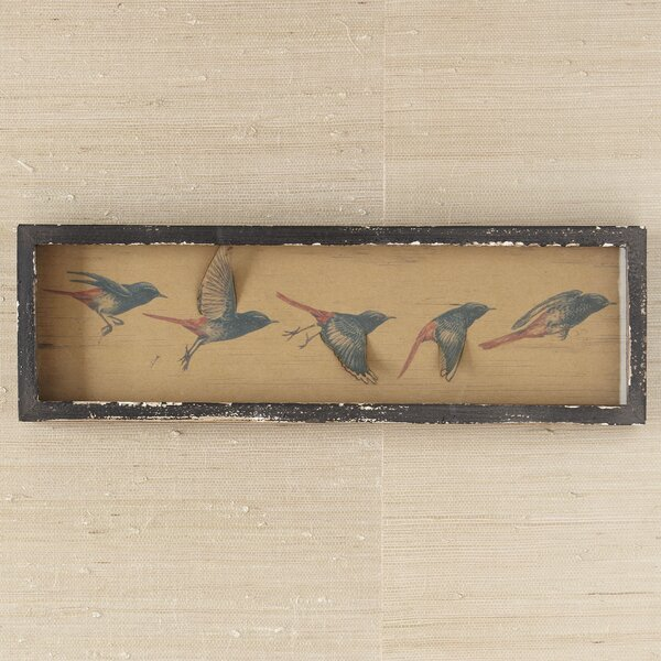 Flying Birds Framed on Wood by Birch Lane™