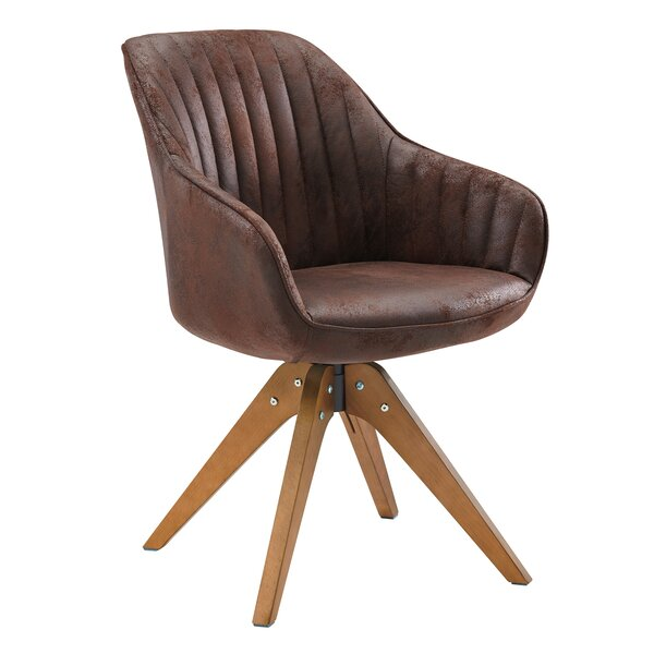 Hayek Fabric Swivel Armchair By Union Rustic