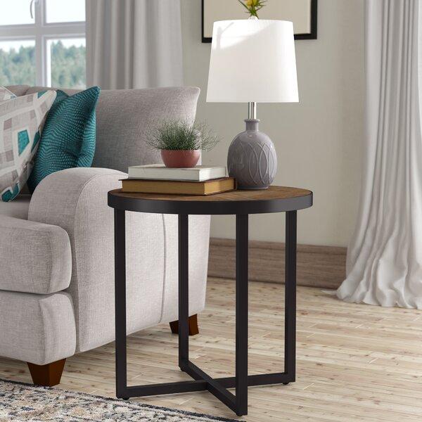 Dillwyn Cross Legs End Table By Three Posts