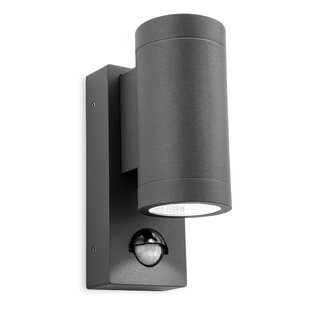 Pir security lights youll love wayfair shelby 2 light outdoor sconce with motion sensor aloadofball Images