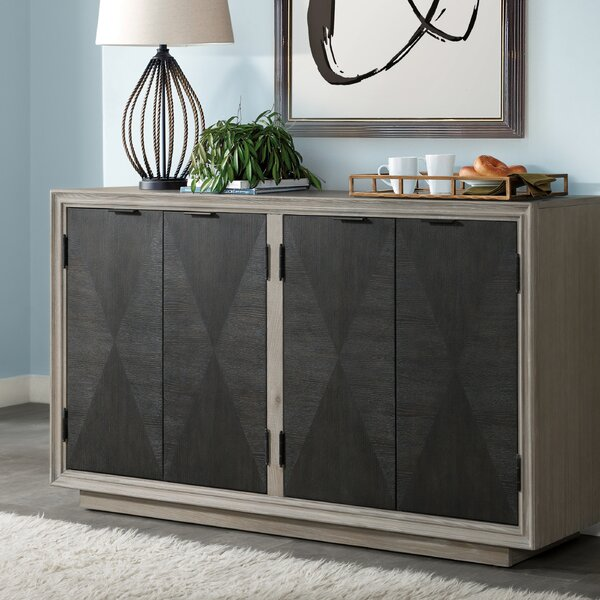 Hoover Four Door Duotone Parquet Sideboard by Union Rustic