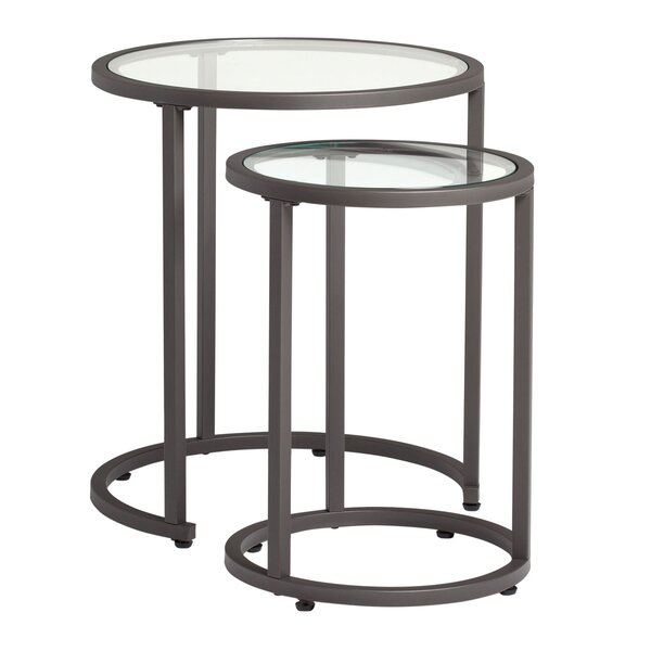 Camber 2 Piece Nesting Tables by Offex