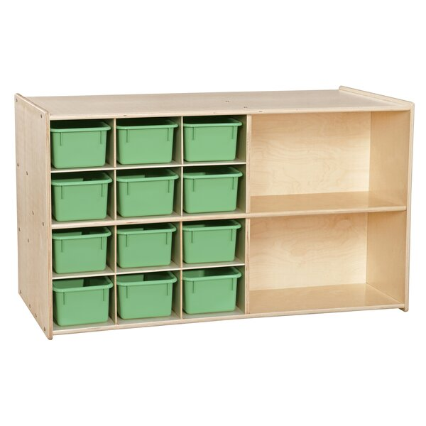 Double Sided 14 Compartment Cubby with Trays by Wood Designs