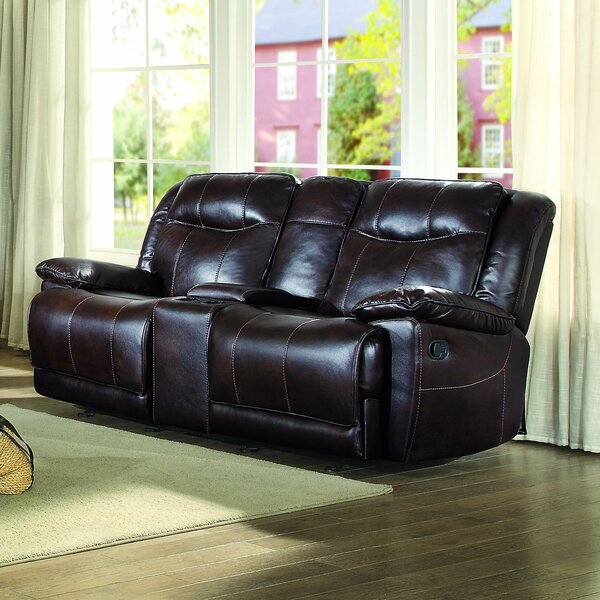 Boody Leather Reclining Loveseat by Red Barrel Studio