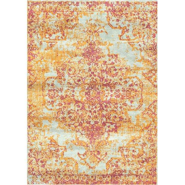 Aliza Handloom Pink/Brown Area Rug by Bungalow Rose