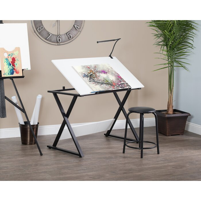 Drafting Table Chair Reviews Havertys Desk White Ideas