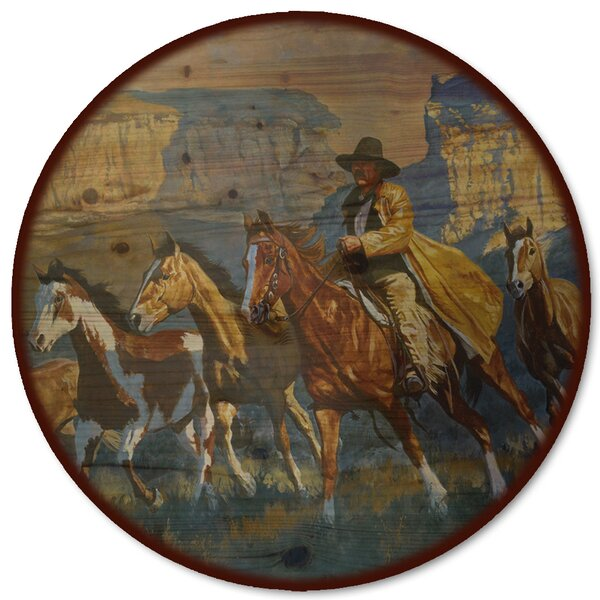 A Cowboy Day Lazy Susan by WGI-GALLERY