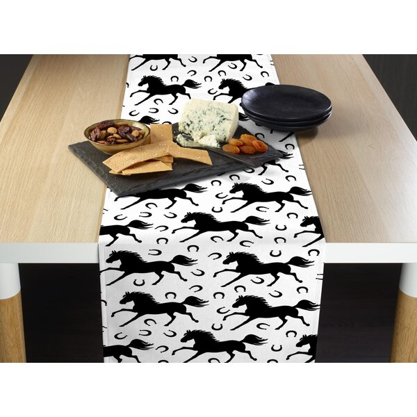 Stuckey Stallions and Horseshoes Table Runner by Millwood Pines