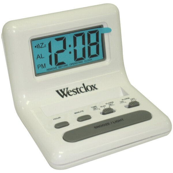 LCD Digital Bedside Alarm Tabletop Clock by Ebern Designs