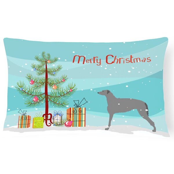 Scottish Deerhound Indoor/Outdoor Lumbar Pillow by The Holiday Aisle