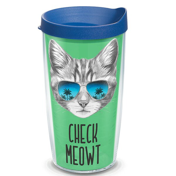 Pets Check Meowt Plastic Travel Tumbler by Tervis Tumbler