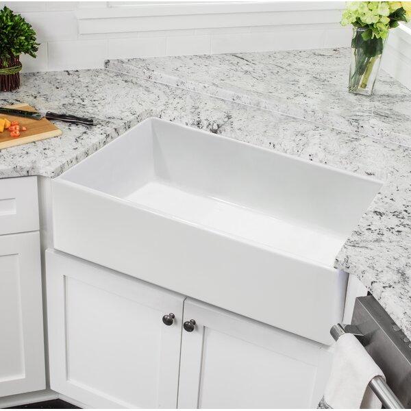 Fireclay 30 L x 18 W Farmhouse Kitchen Sink by Soleil