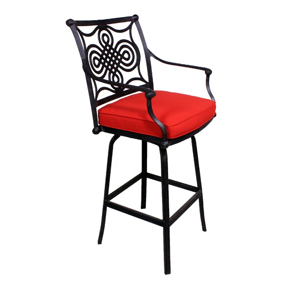 Bermuda 28 Patio Bar Stool with Cushion by California Outdoor Designs