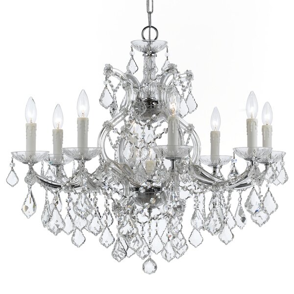 Sagamore Swarovski Spectra 9-Light Candle Style Chandelier by House of Hampton