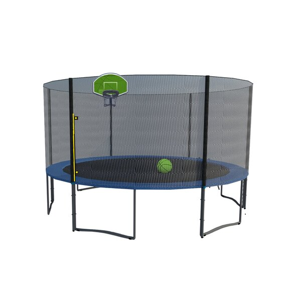 Round Trampoline with Safety Enclosure by Exacme