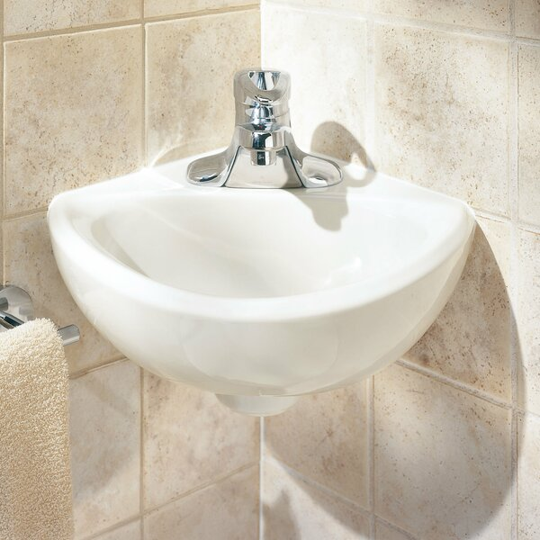Minette Ceramic Specialty Wall-Mount Bathroom Sink with Overflow by American Standard