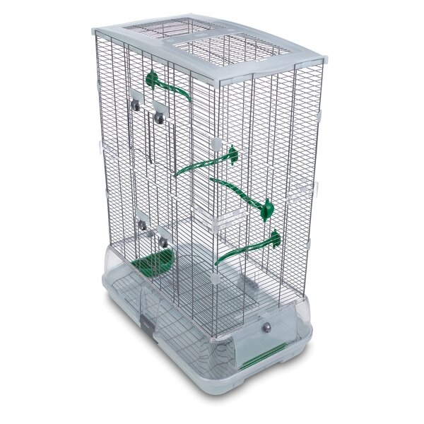 Faith Double Vision  Bird Cage with Small Wire by Tucker Murphy Pet