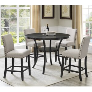 Biony Espresso Wood 5 Piece Dining Set by Roundhill Furniture