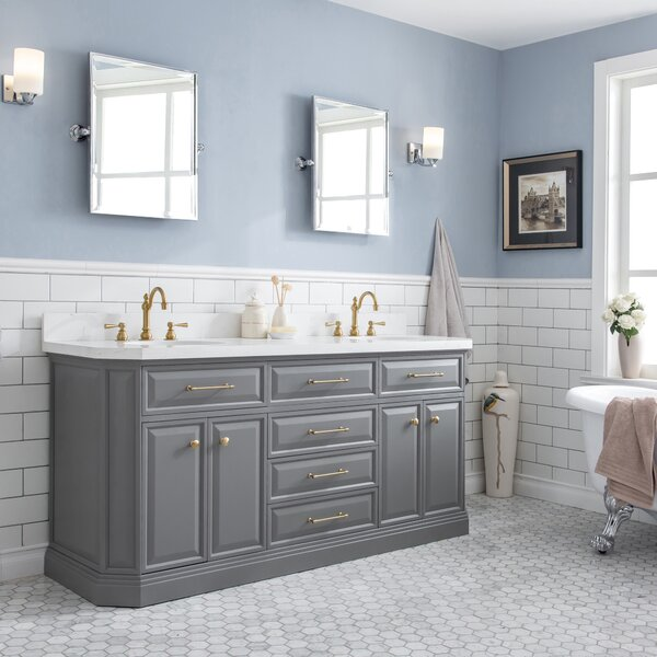 Oliphant Quartz 72 Double Bathroom Vanity